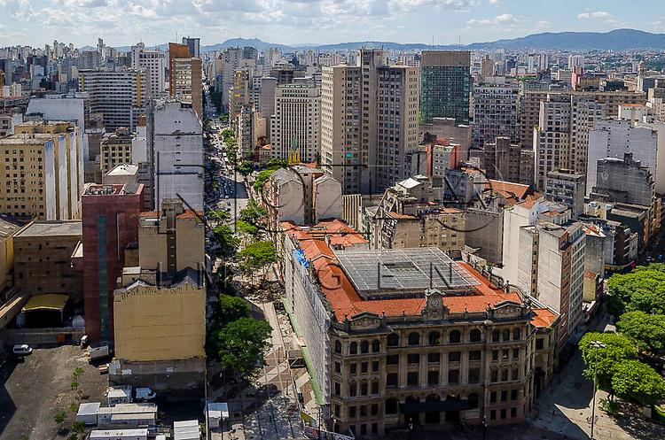 Praça do Correio e Avenida São João vistos do Edifício Martinelli, São Paulo - SP, 01/2014.