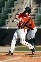 Jameson Smith (25) of the Greensboro Grasshoppers looks to make contact versus the Kannapolis Intimidators at Fieldcrest Cannon Stadium in Kannapolis, NC, Sunday, April 20, 2008.