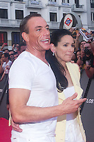 08.08.2012. Premier at the Callao Cinema in Madrid of the film &acute;The Expendables 2&acute;. Directed by Simon West and starring by  Bruce Willis, Jean-Claude Van Damme , Sylvester Stallone, Jason Statham, Jet Li, Dolph Lundgren, Randy Couture, Terry Crews and Liam Hemsworth. In the image Jean-Claude Van Damme and his wife Gladys Portugues  (Alterphotos/Marta Gonzalez) NortePhoto.com<br />