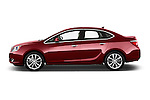 Car Driver side profile view of a 2017 Buick Verano Leather 4 Door Sedan Side View