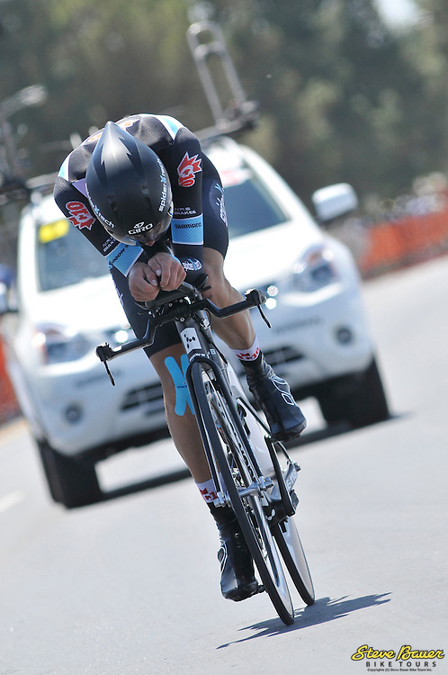 David Boily during the Stage 5 individual time trial at the Amgen Tour of California on May 17, 2012. Photo by Brian Hodes/Veloimages