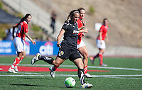 Rosie Tantillo sees her first professional action. FC Gold Pride defeated the Washington Freedom 3-2 at Pioneer Stadium in Hayward, California on July 11th, 2010.