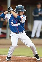 17 August 2010: Andy Pitcher of Team France is seen at bat during the Czech Republic 4-3 win over France, at the 2010 European Championship, under 21, in Brno, Czech Republic.