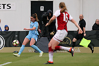 Melissa Lawley of Manchester City Women and Katie McCabe of Arsenal Women during Arsenal Women vs Manchester City Women, FA Women's Super League FA WSL1 Football at Meadow Park on 12th May 2018