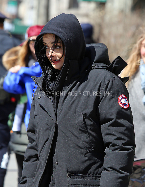 WWW.ACEPIXS.COM<br /> <br /> March 23 2015, New York City<br /> <br /> Actress Krysten Ritter was on the set of the new TV show 'AKA Jessica Jones' on March 23 2015 in New York City<br /> <br /> By Line: Philip Vaughan/ACE Pictures<br /> <br /> ACE Pictures, Inc.<br /> tel: 646 769 0430<br /> Email: info@acepixs.com<br /> www.acepixs.com