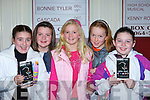 A Tale as Old as Time: Enjoying the Beauty and the Beast Musical in the INEC, Killarney on Friday night was l-r: Kayleigh Thornhill, Emma O'Callaghan, Caoimhe O'Hanlon, Clodagh O'Sullivan and Roisin Murphy, Killarney.   Copyright Kerry's Eye 2008