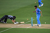 8th February 2019, Eden Park, Auckland, New Zealand;  Ross Taylor is run out by a direct hit by Shankar. New Zealand v India in the Twenty20 International cricket, 2nd T20.