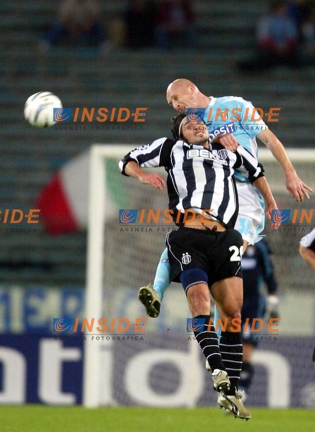 ROMA 26/11/2003 CHAMPIONS LEAGUE<br /> LAZIO BESIKTAS <br /> JAAP STAM E FEDERICO GIUNTI<br /> FOTO ANDREA STACCIOLI Insidefoto