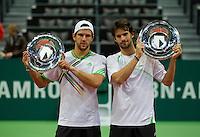 13-02-11Tennis, Rotterdam, ABNAMROWTT, Huldiging 2 finale dubbel, Petzschner, Melzer