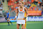 The Hague, Netherlands, June 07: Carlien Dirkse van den Heuvel #9 of The Netherlands looks on during the field hockey group match (Group A) between Australia and The Netherlands on June 7, 2014 during the World Cup 2014 at Kyocera Stadium in The Hague, Netherlands. Final score 0-0 (0-2) (Photo by Dirk Markgraf / www.265-images.com) *** Local caption ***