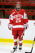 Jenn Arms (BU - 25) - The Northeastern University Huskies defeated the Boston University Terriers in a shootout after being tied at 4 following overtime in their Beanpot semi-final game on Tuesday, February 2, 2010 at the Bright Hockey Center in Cambridge, Massachusetts.