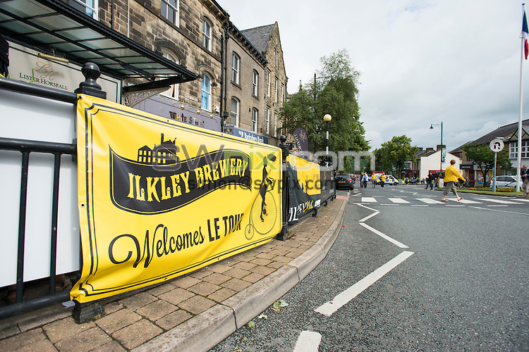 Picture by Allan McKenzie/SWpix.com -  05/07/2014 - Cycling - Tour de France 2014 Grand Depart - Stage 1, Leeds to Harrogate - Yorkshire, England - Ilkley Brewery Tour De France signage.