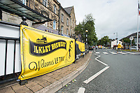Picture by Allan McKenzie/SWpix.com -  05/07/2014 - Cycling - Tour de France 2014 Grand Depart - Stage 1, Leeds to Harrogate - Yorkshire, England - Ilkley Brewery Tour De France signage.