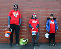 24th November 2019; Bramall Lane, Sheffield, Yorkshire, England; English Premier League Football, Sheffield United versus Manchester United; Fans collect for the Hallam FM Xmas appeal - Strictly Editorial Use Only. No use with unauthorized audio, video, data, fixture lists, club/league logos or 'live' services. Online in-match use limited to 120 images, no video emulation. No use in betting, games or single club/league/player publications