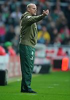 FUSSBALL   1. BUNDESLIGA   SAISON 2011/2012    12. SPIELTAG SV Werder Bremen - 1. FC Koeln                              05.11.2011 Trainer Thomas SCHAAF (Bremen)