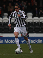 Lee Mair in the St Mirren v Dundee United Clydesdale Bank Scottish Premier League match played at St Mirren Park, Paisley on 27.10.12.