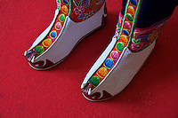 Traditional Butanese, boots,Bhutan