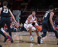 STANFORD, CA - January 26, 2019: Bryce Wills at Maples Pavilion. The Stanford Cardinal defeated the Colorado Buffaloes 75-62.
