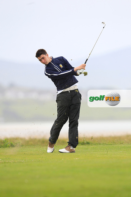 Conor Rice (Athlone) on the 4th tee during the Athlone V Westport Connacht Senior Cup Final at Co.Sligo Golf Club in Rosses Point on Sunday 28th June 2015.<br /> Picture:  Golffile | Thos Caffrey