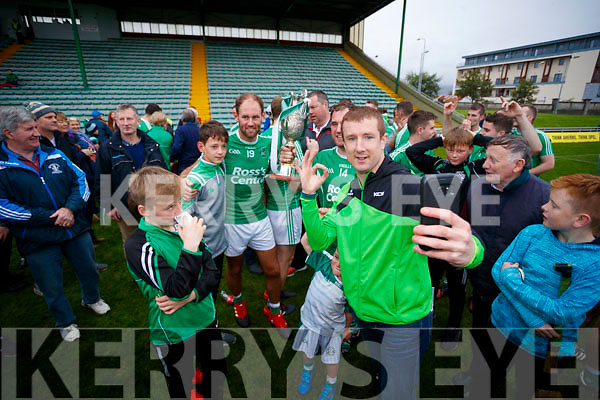 Buff Egan with the Ballyduff players celebrating at the Final whistle in the Senior County Hurling Final in Austin Stack Park on Sunday