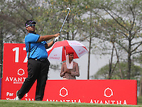 Hiradech Aphibarnrat (THA) on the 17th during Round 3 of the 2013 Avantha Masters, Jaypee Greens Golf Club, Greater Noida, Delhi, 16/3/13..(Photo Jenny Matthews/www.golffile.ie)