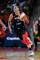 Washington, DC - July 13, 2019: Las Vegas Aces guard Kayla McBride (21) brings the ball up court during 1st half action of game between Las Vegas Aces and Washington Mystics at the Entertainment & Sports Arena in Washington, DC. (Photo by Phil Peters/Media Images International)