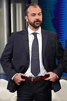 Lorenzo Fioramonti <br /> Roma 23/01/2018. Trasmissione tv Rai 'Porta a Porta'.<br /> Rome January 23rd 2018. Talk show 'Porta a Porta' in Rome<br /> Foto Samantha Zucchi Insidefoto