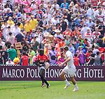 England vs Kenya on Day 2 of the 2012 Cathay Pacific / HSBC Hong Kong Sevens at the Hong Kong Stadium in Hong Kong, China on 24th March 2012. Photo © Felix Ordonez / PSI for Marco Polo Hong Kong Hotel