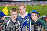 SPECTATORS: Kevin Walsh, Martin Tierney and Michael Dillane watching the All Ireland Colleges Final in Croke Park on Sunday..