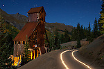 Yankee Girl Mine Headframe at Night, Red Mountain Pass, Colorado, 2010
