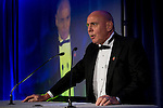 © Joel Goodman - 07973 332324 . 06/11/2014 .  Manchester , UK . STEVE ANDERSON-DIXON delivers a speech to the awards . The MEN Business Awards 2014 at the Midland Hotel . Photo credit : Joel Goodman