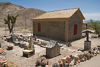 Tom Kelly's bottle house, built circa 1905 using an estimated 30,000 bottles.  Rhyolite ghost town, Nevada