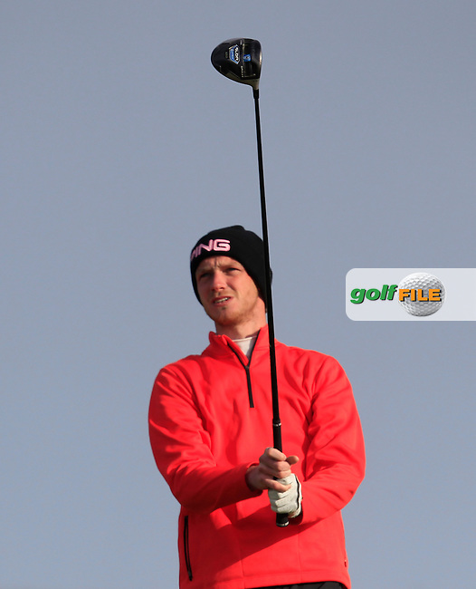 Stephen Coulter (Warrenpoint) on the 2nd tee during Round 1 of the East of Ireland Amateur Open Championship at Co. Louth Golf Club, Baltray on Saturday 30th May 2015.<br /> Picture:  Thos Caffrey / www.golffile.ie