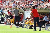 Trainer Niko Kovac (Eintracht Frankfurt) und Trainer Martin Schmidt (1. FSV Mainz 05) geben ständig Anweisungen - 13.05.2017: 1. FSV Mainz 05 vs. Eintracht Frankfurt, Opel Arena, 33. Spieltag