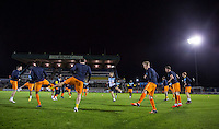 Wycombe players warm up during the Sky Bet League 2 rearranged match between Bristol Rovers and Wycombe Wanderers at the Memorial Stadium, Bristol, England on 1 December 2015. Photo by Andy Rowland.