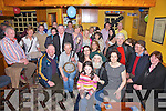 Jimmy Moriarty from Cahersiveen pictured front centre celebrated his 70th birthday with family and friends at the Shebeen Bar Cahersiveen on Saturday night last.