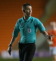 Referee Ross Joyce in action<br /> <br /> Photographer Alex Dodd/CameraSport<br /> <br /> The EFL Sky Bet League Two - Blackpool v Stevenage - Tuesday 14th March 2017 - Bloomfield Road - Blackpool<br /> <br /> World Copyright &copy; 2017 CameraSport. All rights reserved. 43 Linden Ave. Countesthorpe. Leicester. England. LE8 5PG - Tel: +44 (0) 116 277 4147 - admin@camerasport.com - www.camerasport.com