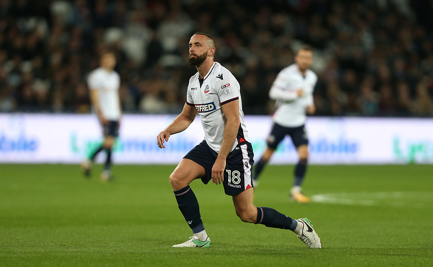 Bolton Wanderers' Aaron Wilbraham<br /> <br /> Photographer Rob Newell/CameraSport<br /> <br /> Carabao Cup 3rd Round - West Ham United v Bolton Wanderers - Tuesday 19th September 2017 - London Stadium, Stratford<br /> <br /> World Copyright &not;&copy; 2017 CameraSport. All rights reserved. 43 Linden Ave. Countesthorpe. Leicester. England. LE8 5PG - Tel: +44 (0) 116 277 4147 - admin@camerasport.com - www.camerasport.com
