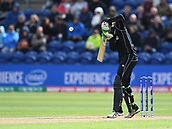Jun 6th, The SSE SWALEC, Cardiff, Wales; ICC Champions Trophy; England versus New Zealand; Martin Guptill of New Zealand dodges a bouncer