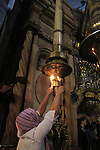 Israel, Jerusalem, Easter, Holy Saturday at the Church of the Holy Sepulchre