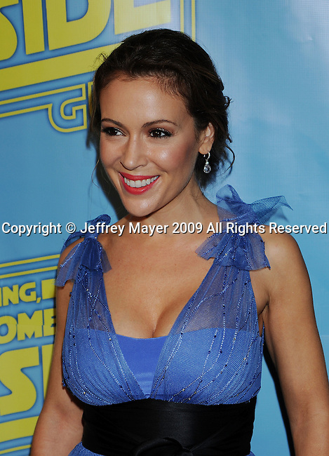 "BEVERLY HILLS, CA. - December 12: Alyssa Milano attends the ""Family Guy Something, Something, Something, Dark Side"" DVD Release Party at a private residence on December 12, 2009 in Beverly Hills, California."