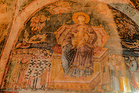 Detail of Madonna and child, Holy Mother of God Peribleptos Church, Ohrid, Macedonia, Built in 1295,  Soem of the finest examples of Byzantine frescoes in the world