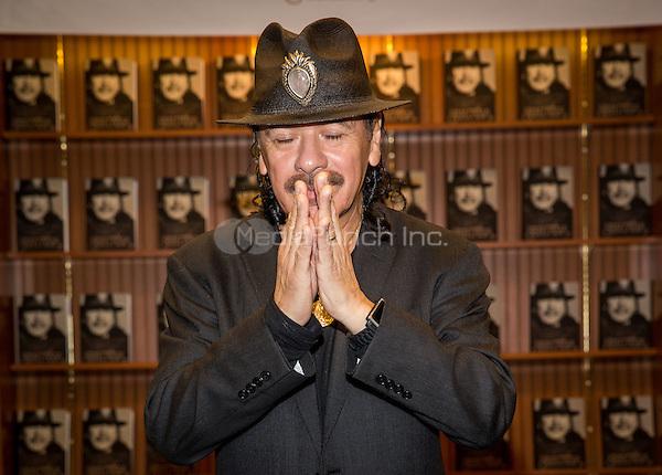 LAS VEGAS, NV - November 4: Carlos Santana book signing for THE UNIVERSAL TONE: Bringing My Story to Light by Carlos Santana at Barnes & Noble Booksellers in Las Vegas, NV on November 4, 2014.RTNEK Photography / MediaPunch