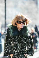 Anna Wintour attends Day 7 of New York Fashion Week on Feb 18, 2015 (Photo by Hunter Abrams/Guest of a Guest)
