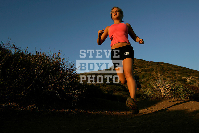 Katie DeSplinter enjoys running on the Ray Miller Trail in Malibu, California.  DeSplinter has run three marathons to date and is currently training for her first triathlon.