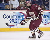 Brock Bradford - The Boston College Eagles defeated the University of Massachusetts-Lowell River Hawks 4-3 in overtime on Saturday, January 28, 2006, at the Paul E. Tsongas Arena in Lowell, Massachusetts.