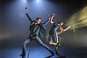 """London, UK. 27.02.20. Mark Bruce Company presents """"Return to Heaven"""", at Wilton's Music Hall. Written and choreographed by Mark Bruce, with costume design by Dorothee Brodruck, lighting design by Guy Hoare, and set design by Phil Eddolls. The dancers are: Jordi Calpe-Serrats, Eleanor Duval, Carina Howard, Dane Hurst, Sharol Mackenzie, Christopher Thomas. Christopher Thomas, Sharol Mackenzie. Photograph © Jane Hobson."""