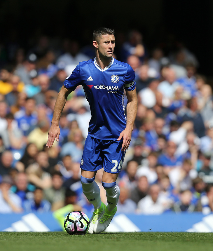Chelsea's Gary Cahill<br /> <br /> Photographer Rob Newell/CameraSport<br /> <br /> The Premier League - Chelsea v Sunderland - Sunday 21st May 2017 - Stamford Bridge - London<br /> <br /> World Copyright &copy; 2017 CameraSport. All rights reserved. 43 Linden Ave. Countesthorpe. Leicester. England. LE8 5PG - Tel: +44 (0) 116 277 4147 - admin@camerasport.com - www.camerasport.com