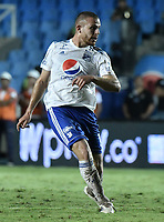 CALI - COLOMBIA, 21-04-2019: Felipe Jaramillo de Millonarios en acción durante partido por la fecha 17 de la Liga Águila I 2019 entre América de Cali y Millonarios jugado en el estadio Pascual Guerrero de la ciudad de Cali. / Felipe Jaramillo of Millonarios in action during match for the date 17 as part of Aguila League I 2019 between America Cali and Millonarios played at Pascual Guerrero stadium in Cali. Photo: VizzorImage / Gabriel Aponte / Staff