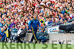 Kerry Manager Peter Keane during the All Ireland Senior Football Semi Final between Kerry and Tyrone at Croke Park, Dublin on Sunday.